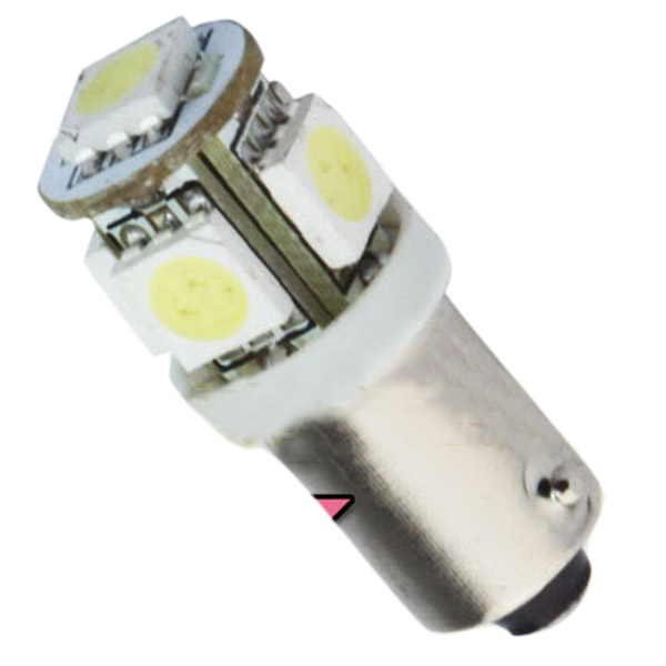 T11 BA9S White 5050 SMD 5 LED Car Light Bulb Lamp 12V