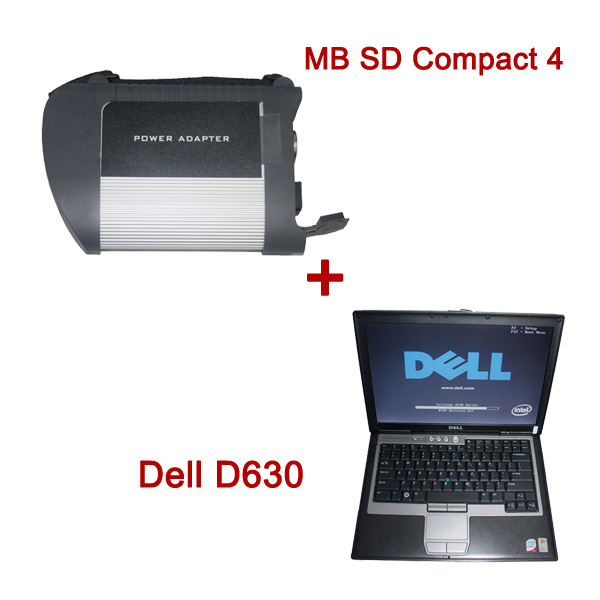 MB SD Connect Compact 4 Star Diagnosis Plus Dell D630 Laptop