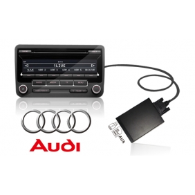 Audi ISO 8Pin USB+SD MP3 Adapter