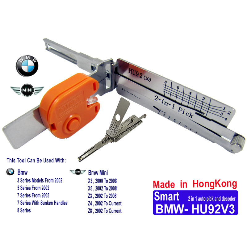 Smart BMW HU92V3 2 in 1 Auto Pick and Decoder with Light