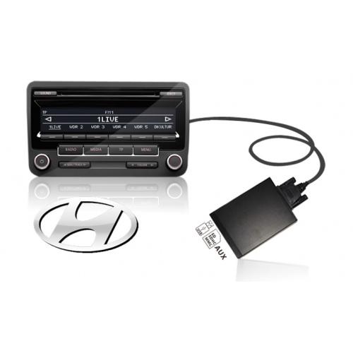 Hyundai 8Pin USB+SD MP3 Adapter