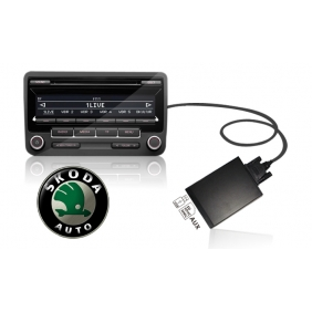 Skoda 8Pin USB+SD MP3 Adapter