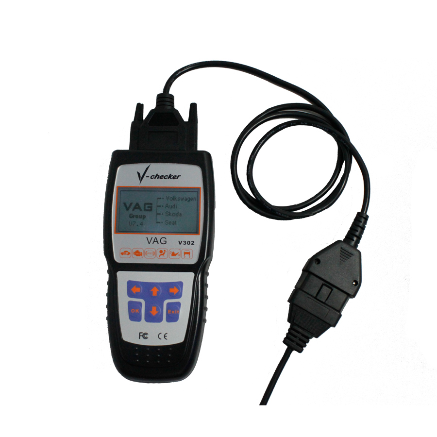 V-CHECKER V302 VAG Professional CANBUS Code Reader Denmark/Czech/Dutch/Russia/Spanish Version